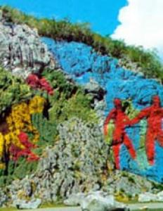 El Mural de la Prehistoria, símbolo del legado arqueológico cubano